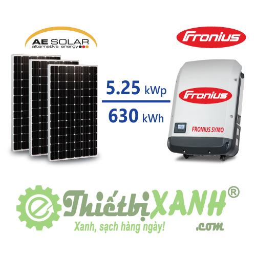 Hệ thống điện mặt trời hòa lưới 5,25 kW 03 pha