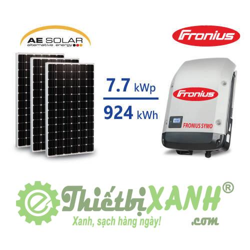 Hệ thống điện mặt trời hòa lưới 7,7 kW 03 pha
