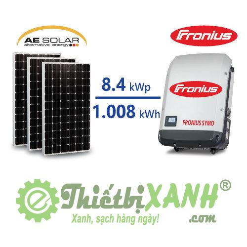 Hệ thống điện mặt trời hòa lưới 8,4 kW 03 pha