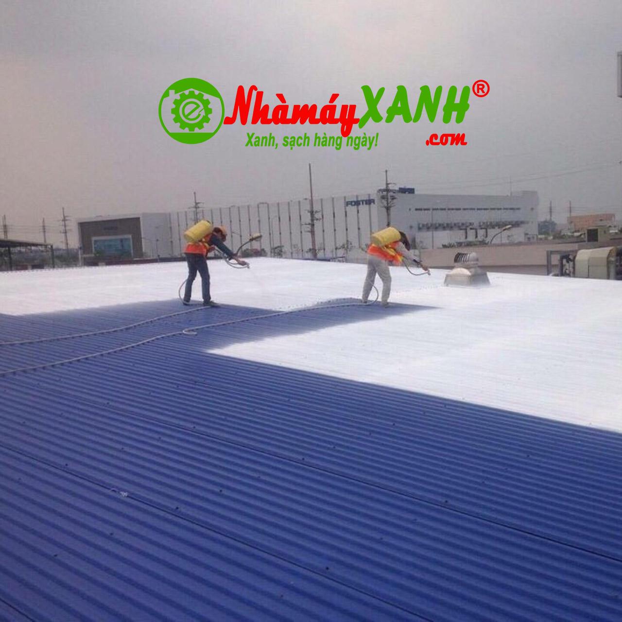 Sơn chống nóng mái tôn nhà máy